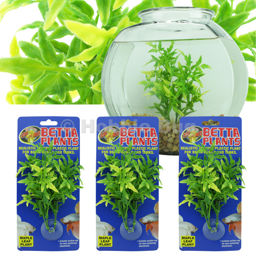3pc zoo med aquarium betta plants fish tank bowl for Planted fish bowl