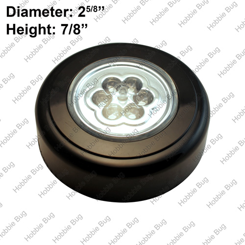 battery operated led lights portable push puck tap night. Black Bedroom Furniture Sets. Home Design Ideas