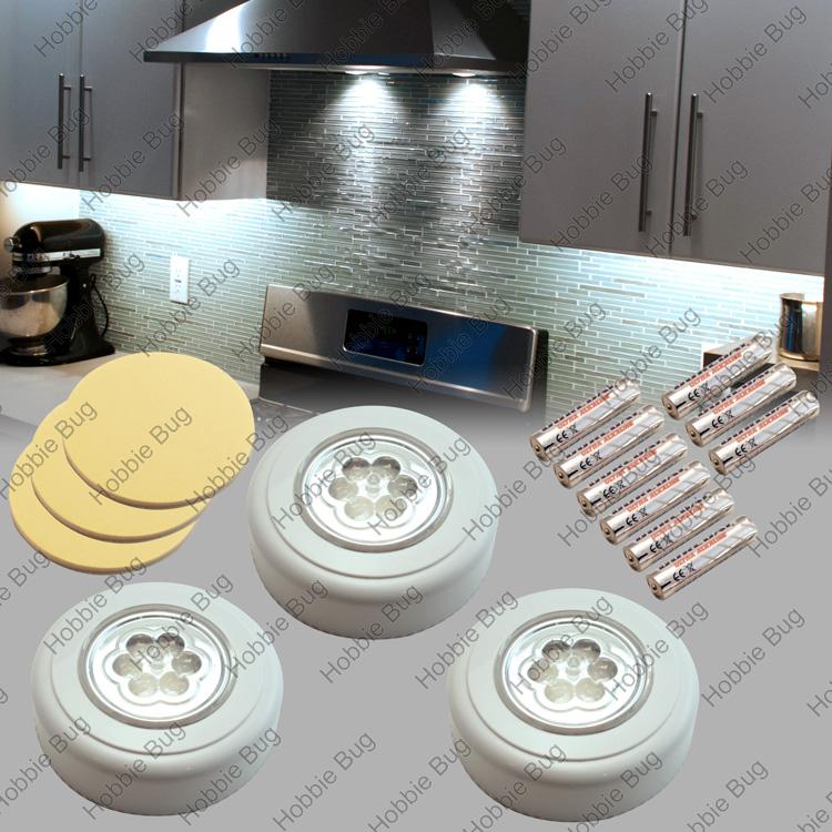 led mini stick pocket touch bag tap night flash puck light. Black Bedroom Furniture Sets. Home Design Ideas